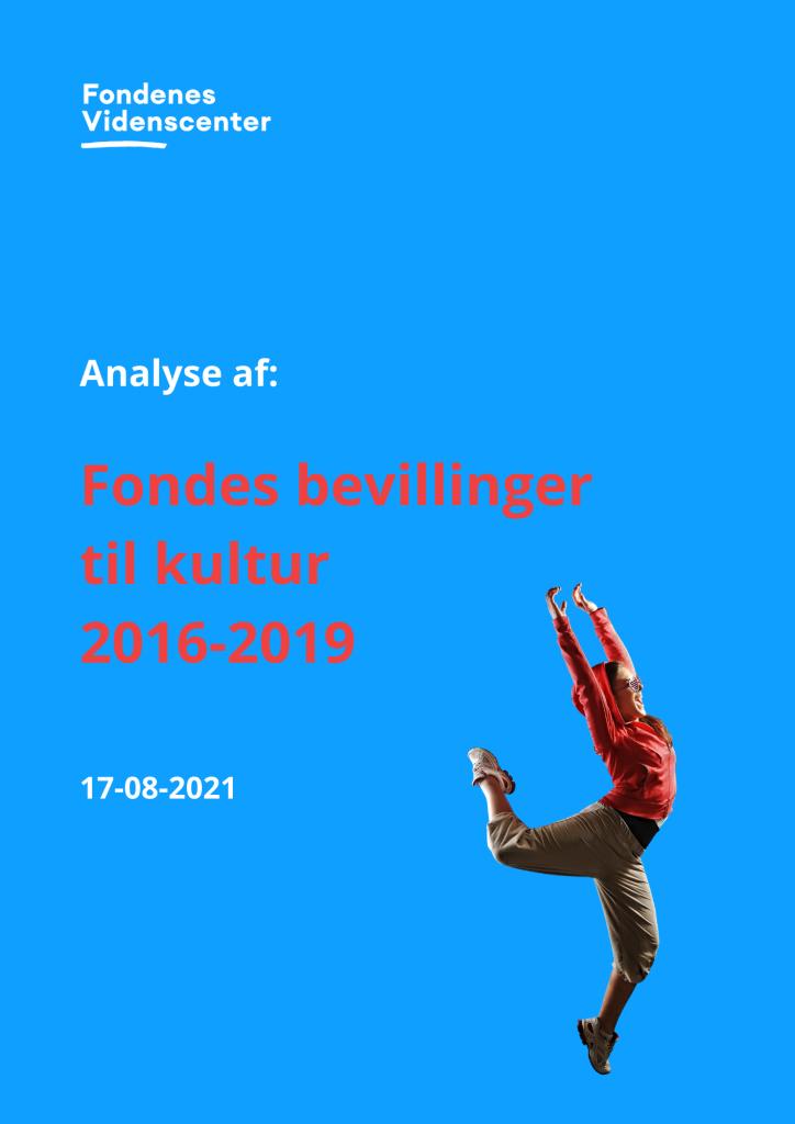 Bevillinger til kulturområdet 2016-2019