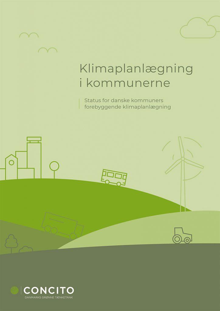 Billedet viser forsiden af rapporten Kortlægning af klimaplanlægning i kommunerne